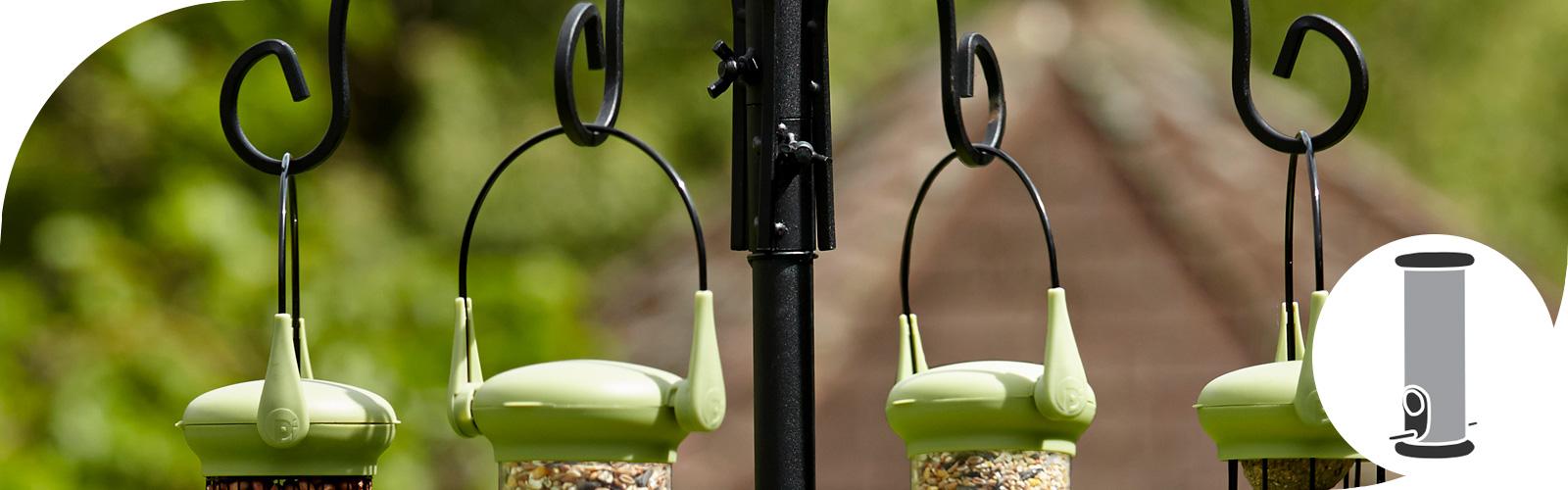 Met een voederstation trek je een grote verscheidenheid van vogels aan...