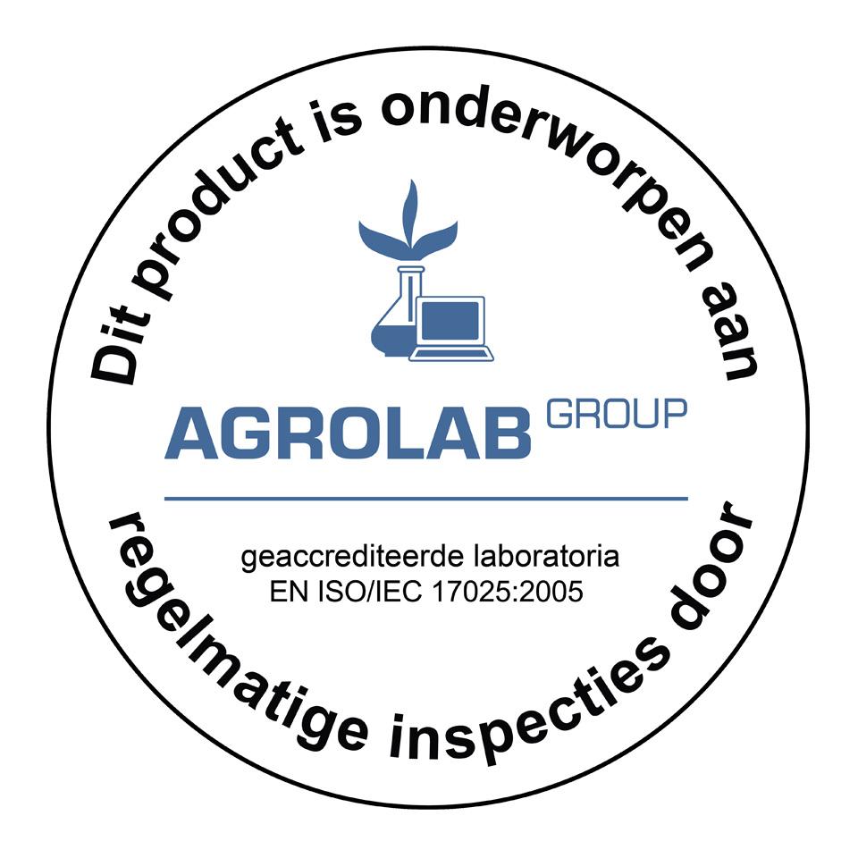Product goedgekeurd door AGROLAB